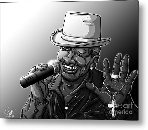 Tuan Metal Print featuring the drawing Old School Brother by Tuan HollaBack