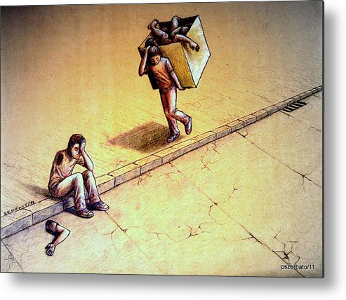 Abbreviated Lives Metal Print featuring the digital art Poetries Incomplete by Paulo Zerbato