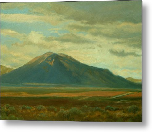 Southwest Metal Print featuring the painting Outside Of Taos by Phyllis Tarlow