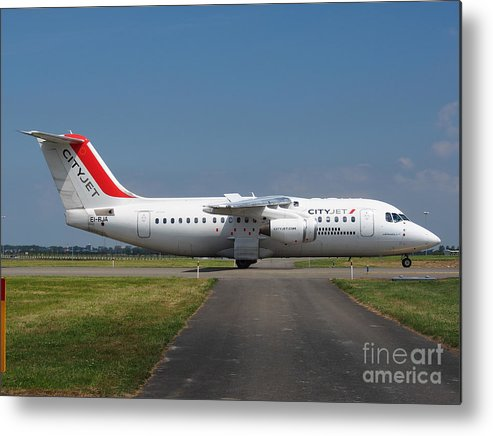 737 Metal Print featuring the photograph Cityjet British Aerospace Avro Rj85 by Paul Fearn