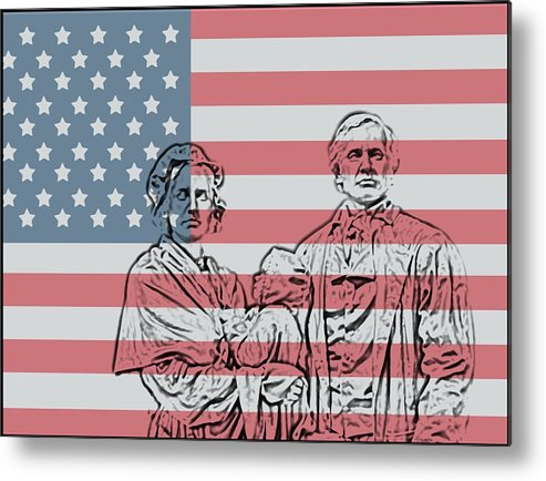 American Patriots American Patriot Metal Print featuring the photograph American Patriots by Dan Sproul