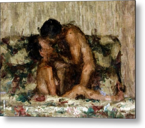 Nudes Metal Print featuring the photograph I Adore You by Kurt Van Wagner