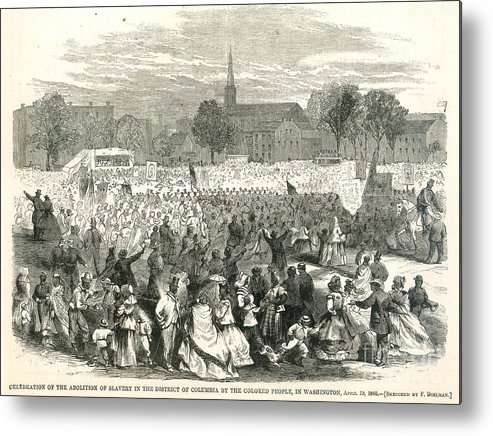1866 Metal Print featuring the photograph Washington: Abolition, 1866 by Granger
