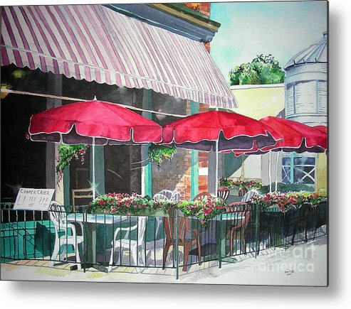 Fort Collins Metal Print featuring the painting Coopersmith's Pub by Tom Riggs