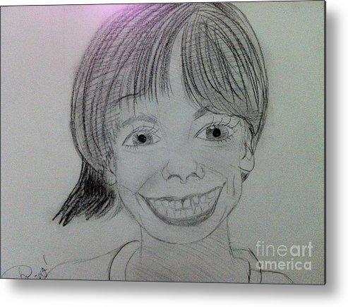 The Late Missing Child Metal Print featuring the drawing Etan Patz by Charita Padilla