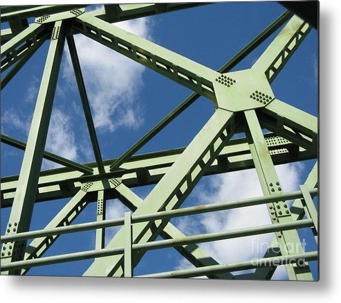 Architecture Metal Print featuring the photograph Truss by Arlene Carmel