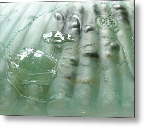 Cradle-mountain Metal Print featuring the sculpture Detail Of The Forth River Meets The Sea by Sarah King