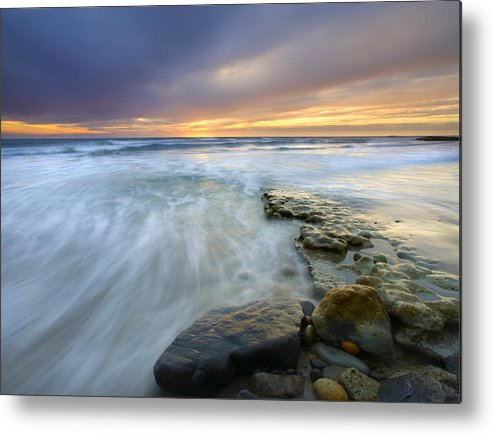 Rocks Metal Print featuring the photograph Driven Before The Storm by Mike Dawson
