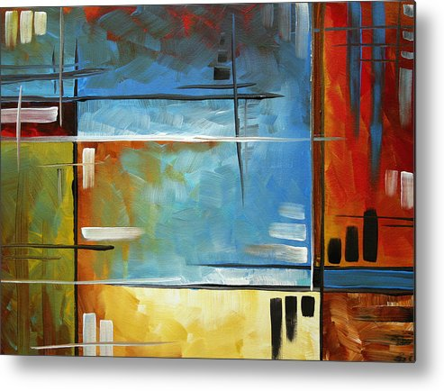 Abstract Metal Print featuring the painting Quiet Whispers By Madart by Megan Duncanson