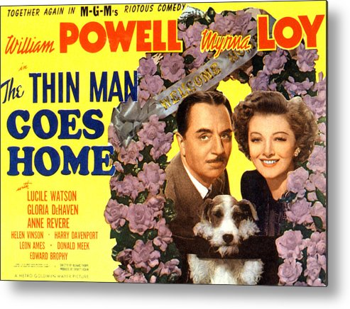 1940s Movies Metal Print featuring the photograph The Thin Man Goes Home, William Powell by Everett