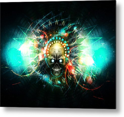 Skull Metal Print featuring the digital art Deadstep -vip by George Smith