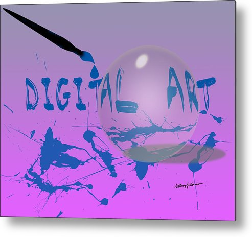 Abstract Metal Print featuring the digital art Digital Art by Anthony Caruso