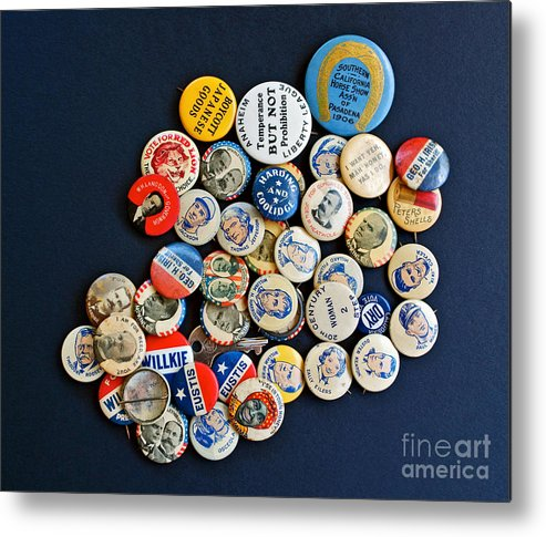 Buttons Metal Print featuring the photograph Buttons by Gwyn Newcombe