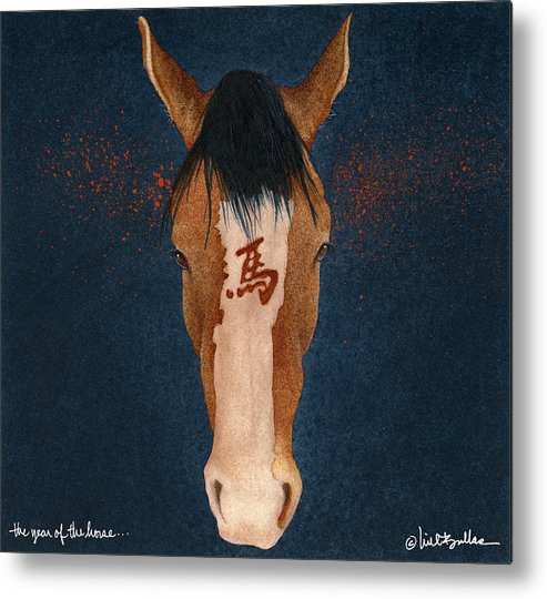 Will Bullas Metal Print featuring the painting The Year Of The Horse... by Will Bullas