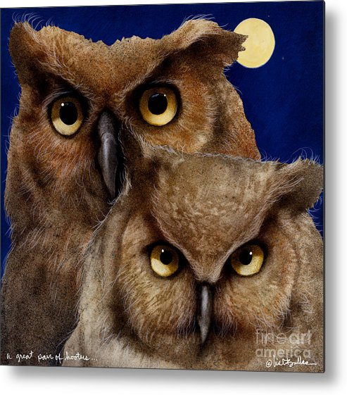 Will Bullas Metal Print featuring the painting A Great Pair Of Hooters... by Will Bullas
