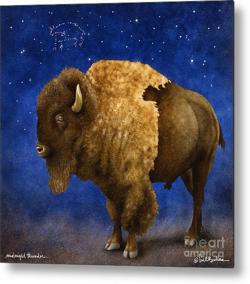 Will Bullas Metal Print featuring the painting Midnight Thunder... by Will Bullas