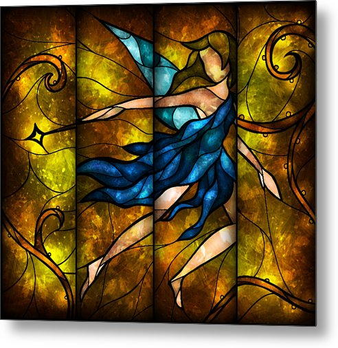 Fairy Metal Print featuring the digital art Fairy Tetraptych by Mandie Manzano