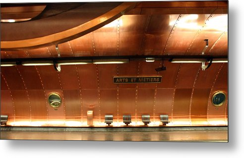 Metal Print featuring the photograph Arts Et Metiers Metro by A Morddel