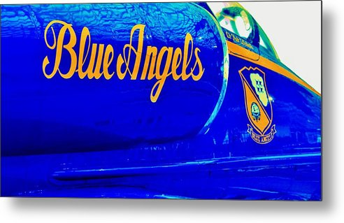 Blue Angels Metal Print featuring the photograph Vintage Blue Angel by Benjamin Yeager