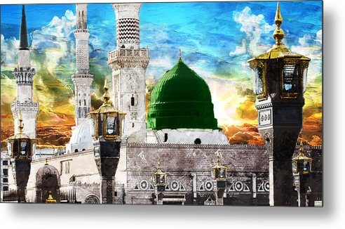 Islamic Metal Print featuring the painting Islamic Painting 004 by Catf