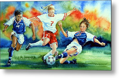 Sports Art Metal Print featuring the painting Women by Hanne Lore Koehler