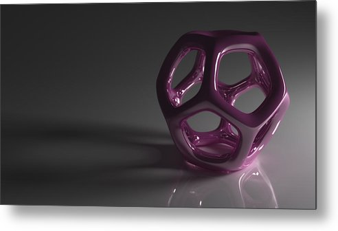Purple Metal Print featuring the digital art Pretty In Purple by Troy Harris