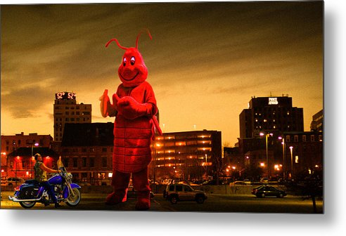 Lobsterman Metal Print featuring the photograph The Night Of The Lobster Man by Bob Orsillo