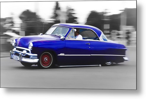Ford Customline Metal Print featuring the photograph Blue Ford Customline by Phil 'motography' Clark