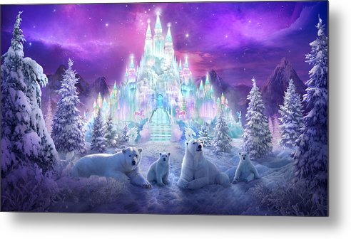 Polar Bears Metal Print featuring the painting Winter Wonderland by Philip Straub