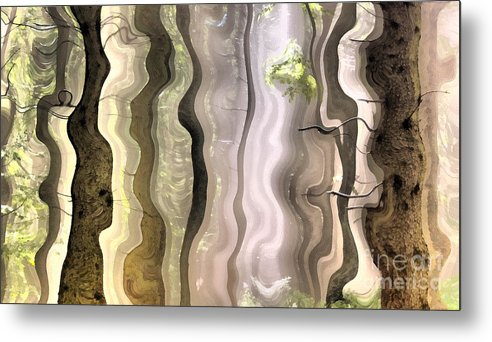 Abstract Metal Print featuring the painting Dream Forest by Odon Czintos