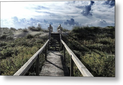 North Carolina Metal Print featuring the photograph Beautiful Day At Cape Hatteras by Patricia Januszkiewicz