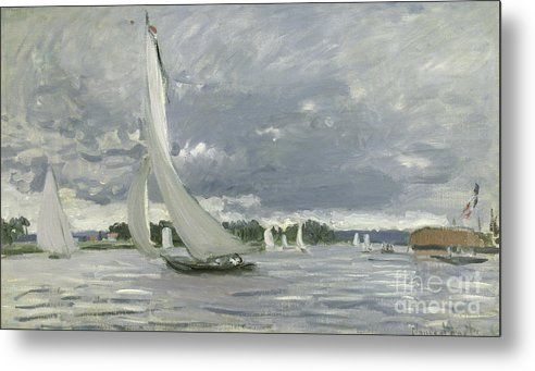 Regatta Metal Print featuring the painting Regatta At Argenteuil by Claude Monet