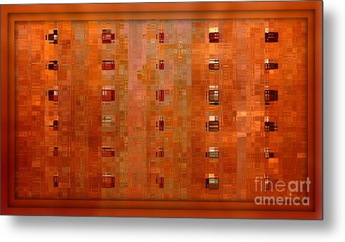 Digital Art Abstract Metal Print featuring the digital art Copper Abstract by Carol Groenen