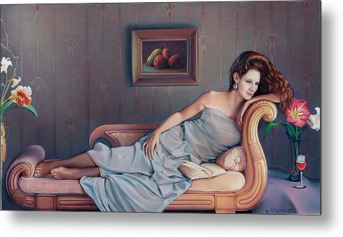 Chaise Metal Print featuring the painting Daydream Believer by Patrick Anthony Pierson