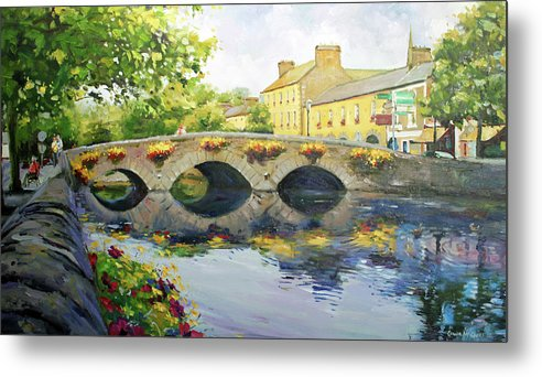 Westport County Mayo Metal Print featuring the painting Westport Bridge County Mayo by Conor McGuire