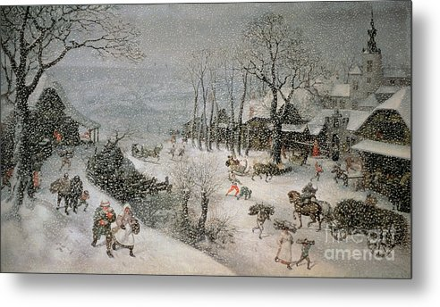 Snowy Metal Print featuring the painting Winter by Lucas van Valckenborch