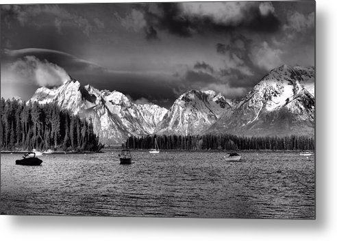 Landscape Metal Print featuring the photograph Boating by Dan Sproul