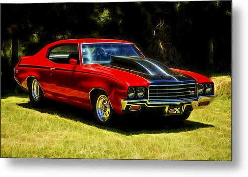 Buick Muscle Car Metal Print featuring the photograph Buick Gsx by motography aka Phil Clark