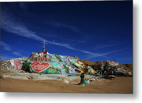 Salvation Mountain Metal Print featuring the photograph Salvation Mountain by Laurie Search