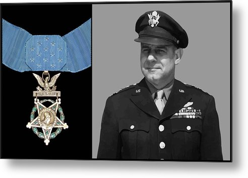 Jimmy Doolittle Metal Print featuring the painting Jimmy Doolittle And The Medal Of Honor by War Is Hell Store