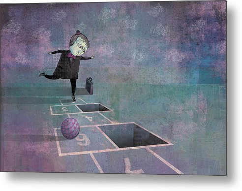 Dennis Wunsch Metal Print featuring the digital art Hopscotch2 by Dennis Wunsch