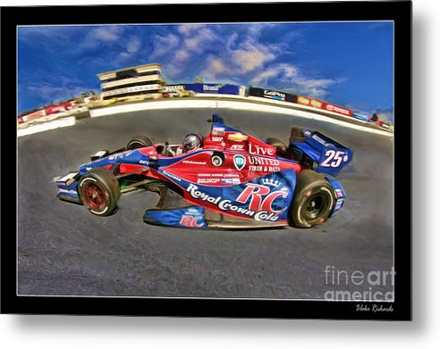 Marco Andretti Metal Print featuring the photograph Marco Andretti by Blake Richards
