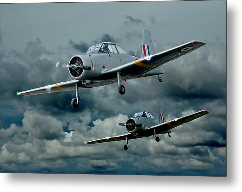 Planes Metal Print featuring the photograph Flight Of The Winjeels by Steven Agius