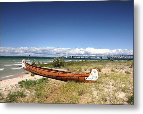 Canoe Metal Print featuring the photograph Past And Present by G Teysen
