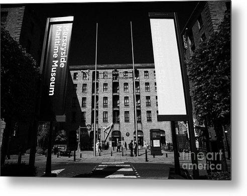 Albert Metal Print featuring the photograph Entrance To The Albert Dock And Beatles Museum Liverpool Merseyside England Uk by Joe Fox