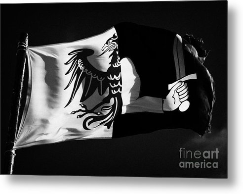 Republic Metal Print featuring the photograph Connacht Provincial Flag Flying In Republic Of Ireland by Joe Fox