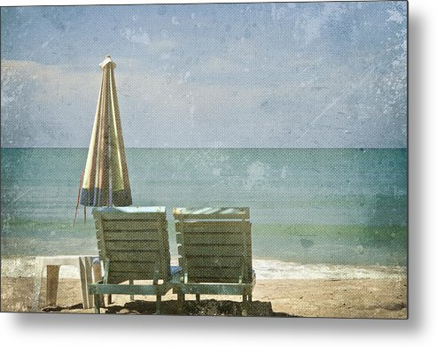 Azure Metal Print featuring the photograph Side By Side by Georgia Fowler