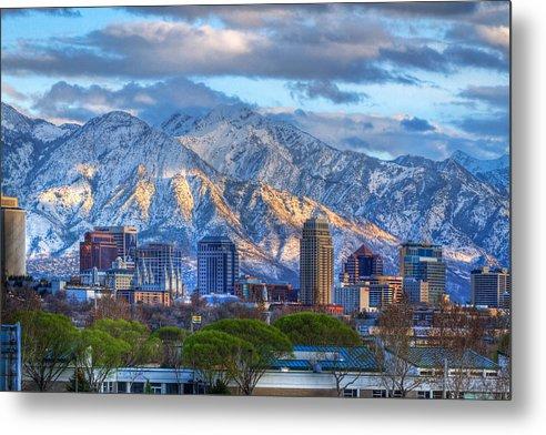 Salt Metal Print featuring the photograph Salt Lake City Utah Usa by Utah Images