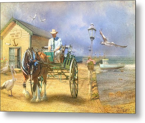 Pelican Metal Print featuring the photograph The Pelican Pantry by Trudi Simmonds