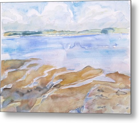 Penobscot Bay Metal Print featuring the painting Low Tide - Penobscot Bay by Grace Keown